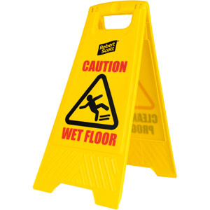 Purely Protect Caution Wet Floor Sign Free Standing 62x30cm