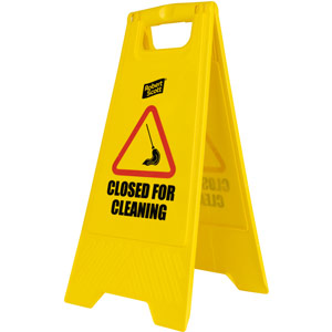 Purely Protect Closed for Cleaning Free Standing Sign