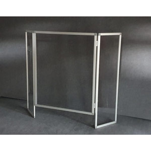 Folding Stand-alone Protection Screen -  1300 x 1000mm