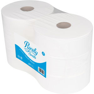 Purely Smile Toilet Roll 2ply Jumbo 300m Pack of 6