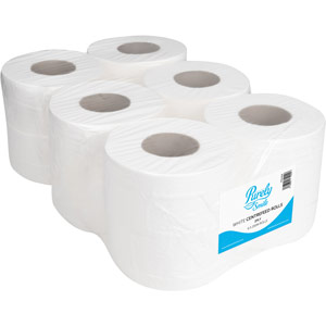 Purely Smile Centrefeed Rolls 2ply 150m White Pack of 6