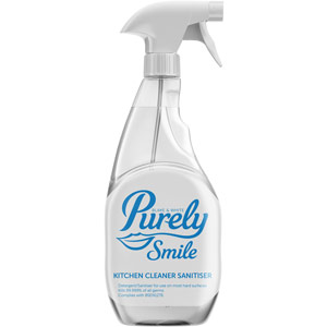 purely smile kitchen cleaner sanitiser - 750ml trigger bottle