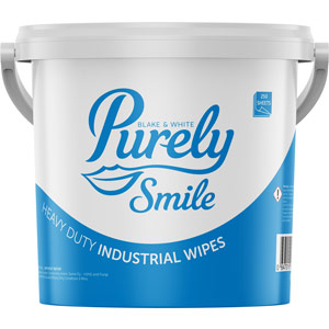 Purely Smile Heavy Duty Industrial Wipes Tub of 250