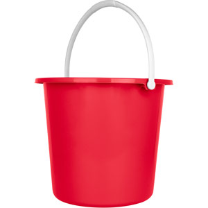 Purely Smile Round Plastic Bucket 9 Litre Red