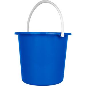 Purely Smile Round Plastic Bucket 9 Litre Blue