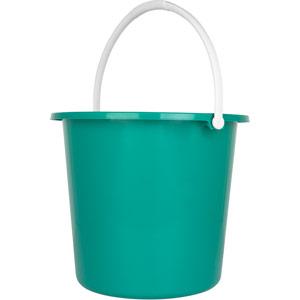 Purely Smile Round Plastic Bucket 9 Litre Green