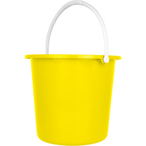 Purely Smile Round Plastic Bucket 9 Litre Yellow
