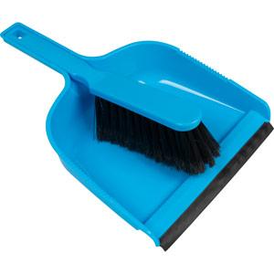 Purely Smile Dustpan & Brush Plastic Blue