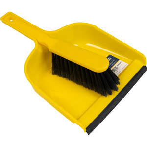 Purely Smile Dustpan & Brush Plastic Yellow