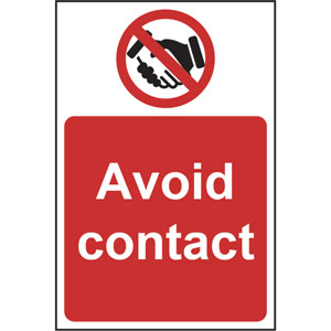 prohibition rigid pvc sign (200 x 300mm) - avoid contact