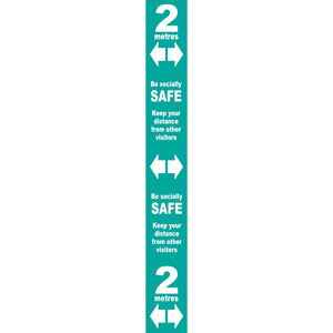 Turquoise Social Distancing Self Adhesive Floor Distance Marker (800 x 100mm)