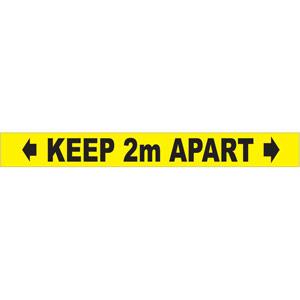 Social Distancing Self Adhesive Floor Tape (50mm x 33m) - Keep Apart 2m