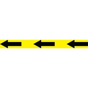 social distancing self adhesive floor tape (50mm x 33m) - black/yellow arrow