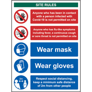 Social Distancing Rigid PVC Sign (300 x 400mm) - Covid19 Workplace Safety Notice