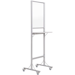 Bi-Office Standing Desk with Transparent Board - 600x1900x560mm