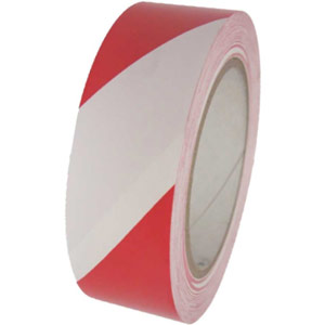 Red/White Hazard Tape - 50mm x 33m
