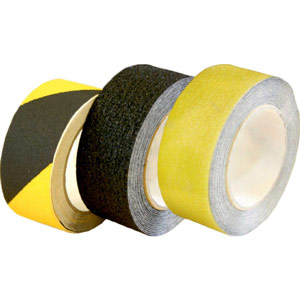 Non-slip floor tape Black/Yellow 75mm x 18.2m