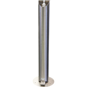 stainless steel hands free sanitiser dispenser