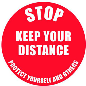 Social Distance Marker - Keep Your Distance - 235mm