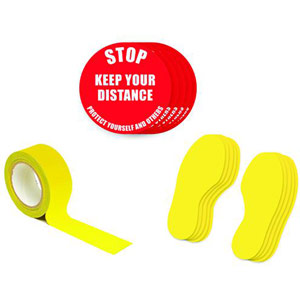 Social Distance Marker Kit - Stop Keep Your Distance