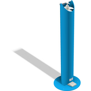 childrens mild steel foot-operated hand sanitising station - blue