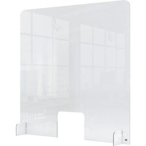 Nobo Clear Acrylic Protective Counter Partition Screen With Transaction Window 700x850mm