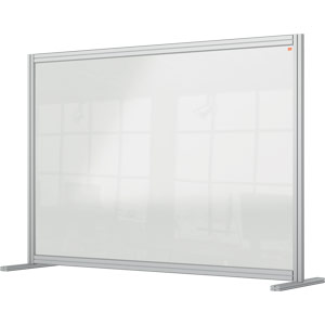 Nobo Premium Plus Clear Acrylic Protective Desk Divider Screen Modular System1400x1000mm