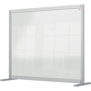Nobo Premium Plus Clear Acrylic Protective Desk Divider Screen Modular System1200x1000mm