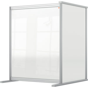 Nobo Premium Plus Clear Acrylic Protective Desk Divider Screen Modular System Extension 800x1000mm