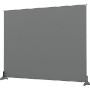 Nobo Impression Grey Pro Desk Divider Screen Felt Surface 1400x1000mm