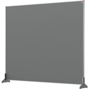 Nobo Impression Grey Pro Desk Divider Screen Felt Surface 1200x1000mm