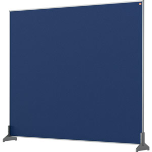 Nobo Impression Blue Pro Desk Divider Screen Felt Surface 1200x1000mm