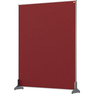 Nobo Impression Red Pro Desk Divider Screen Felt Surface 800x1000mm