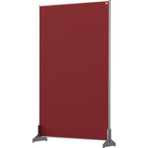 Nobo Impression Red Pro Desk Divider Screen Felt Surface 600x1000mm