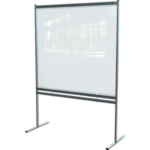 Nobo Premium Plus Clear PVC Free Standing Protective Divider Screen 1480x2060mm