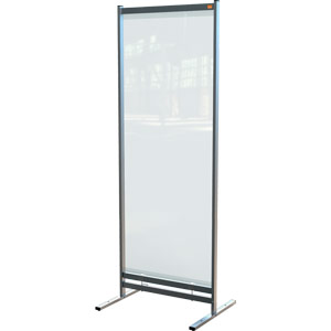 Nobo Premium Plus Clear PVC Free Standing Protective Room Divider Screen 780x2060mm