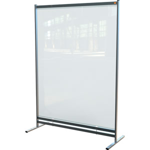 nobo premium plus clear pvc free standing protective room divider screen 1480x2060mm