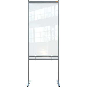 Nobo Premium Plus Clear PVC Free Standing Protective Divider Screen 780x2060mm