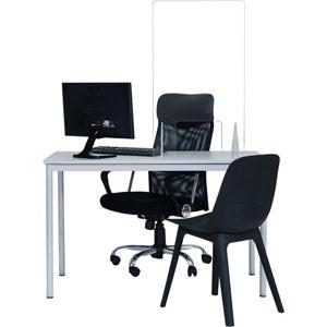 Bi-Office Frameless Acrylic Counter Protection Screen - 600x900mm
