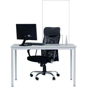 Bi-Office Frameless Acrylic Counter Protection Screen - 900x900mm