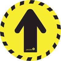 10 x Floor Stickers - Advisory Arrow