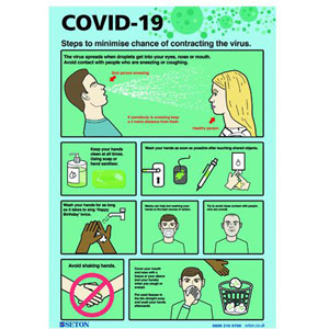 A4 COVID-19 Steps To Minimise S/A Vinyl - FA067A4SAV