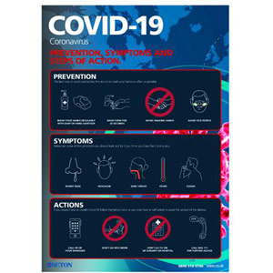 A3 COVID-19 Prevention Symptoms Polypropylene with Adhesive - FA063A3ARP