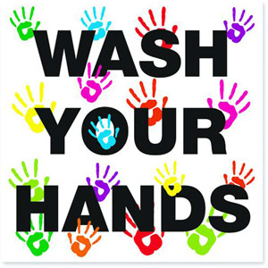 Wash Your Hands - 200X200mm - Repositionable Vinyl - FA066QSAVM