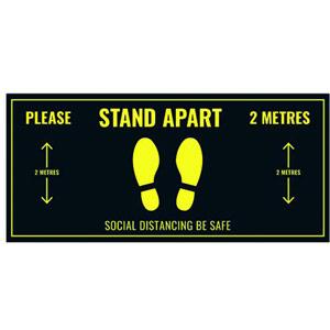 Social Distance Floor Sticker - 400x180mm (Pack of 5)
