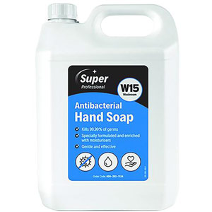 W15 Antibacterial Hand Soap - 5L (Pack of 2)