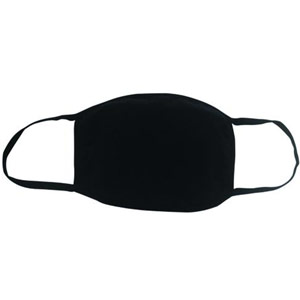 4 layer reusable black cloth masks - 5x7in (pack of 5)